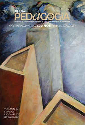 Pedagogía, vol. 45 (2012)