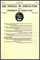 Journal of Agriculture of the University of Puerto Rico