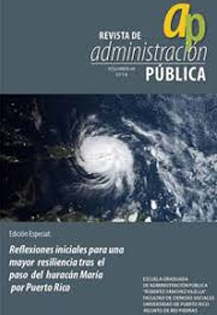 Portada (fotografía satelital de huracán María)