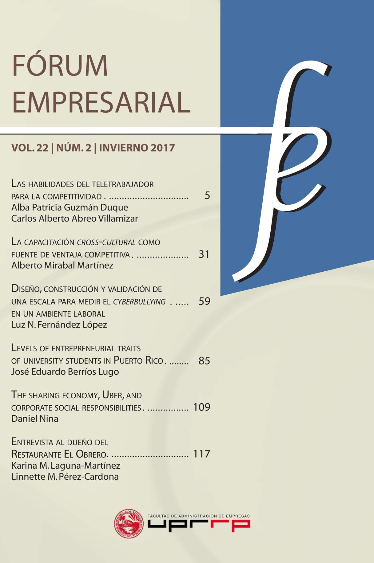Portada del volumen 22, número 2 2017