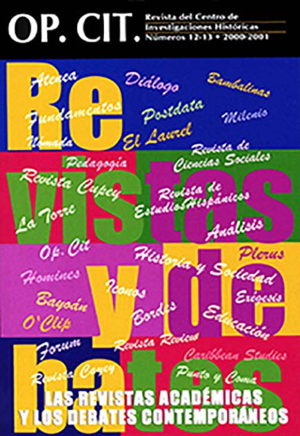 Portada No. 12-13, 2000-2001