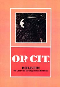 Portada Op. Cit. #3, 1987
