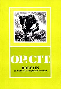 Portada Op. Cit. #2, 1986