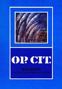 Portada Op. Cit. #4, 1988