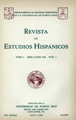Tomo 1, Núm. 2, Abril-Junio 1928