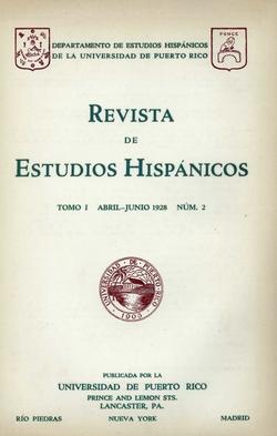 Tomo 1, Núm. 2, Abril-Junio 1928
