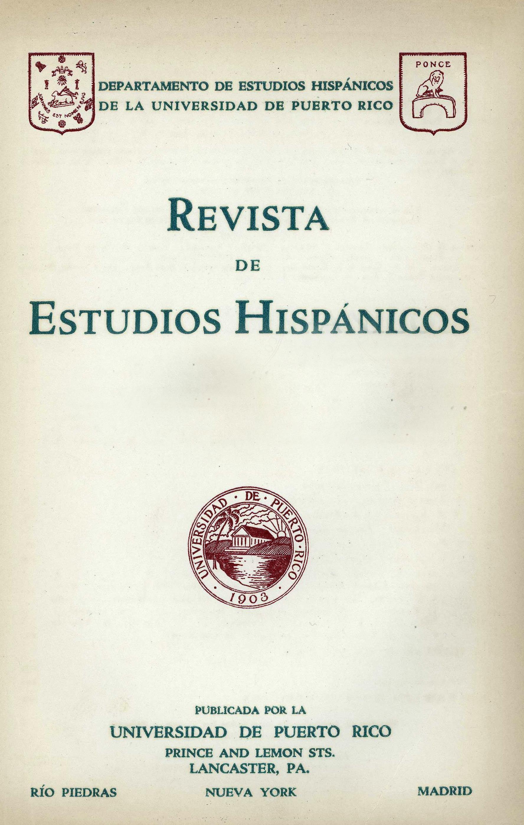 Tomo 1, Núm. 4, Octubre-Diciembre 1928