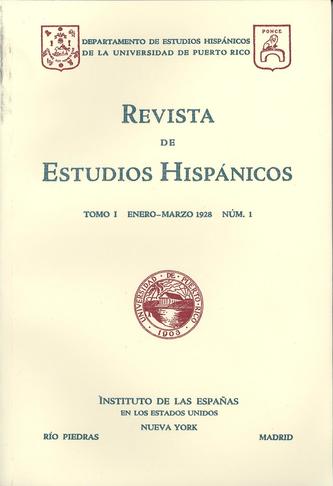 Tomo 1, Núm. 1, Enero-Marzo 1928