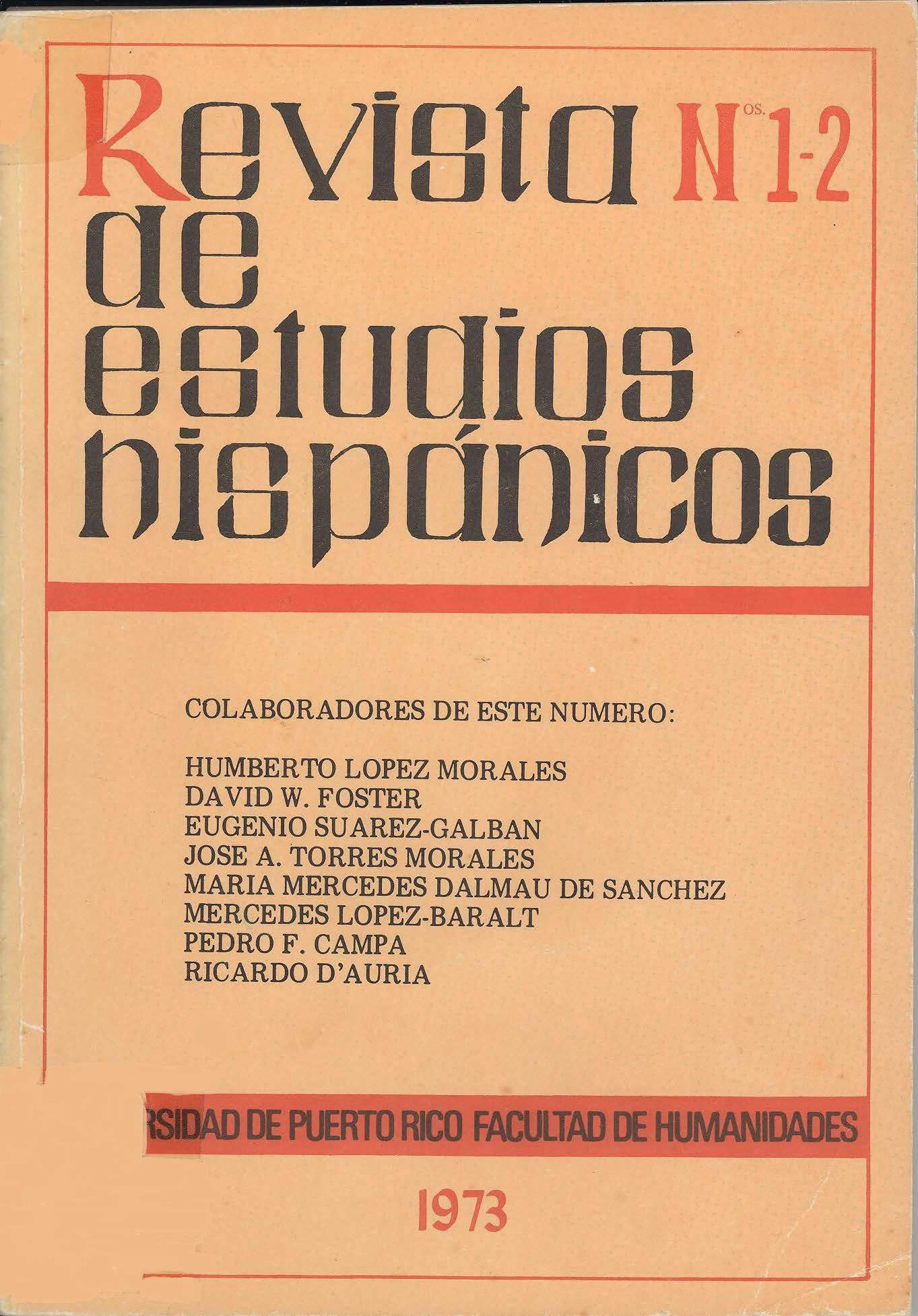 Volumen III, Núm. 1-2, 1973